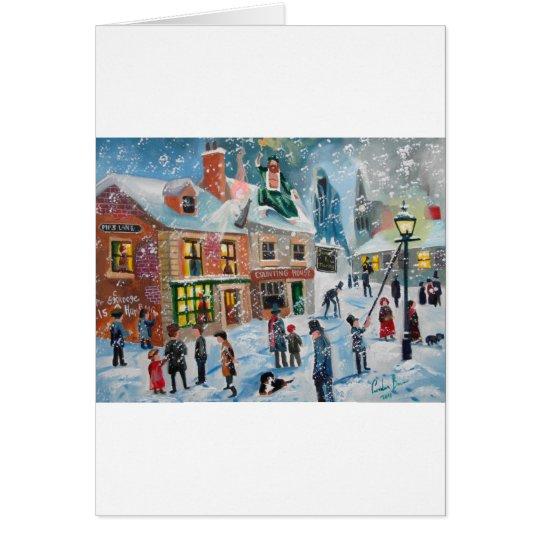 Scrooge A Christmas Carol winter snow scene ghosts Card