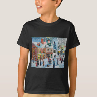 Scrooge A Christmas Carol winter snow scene ghosts T-Shirt