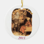 Scrooge and Marley Double-Sided Ceramic Round Christmas Ornament