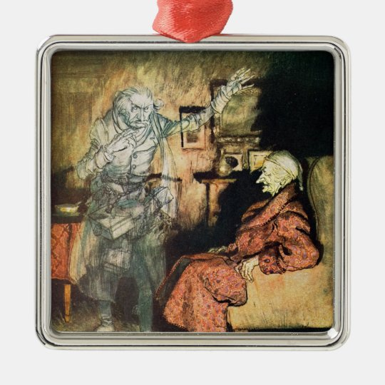 Scrooge and The Ghost of Marley Metal Ornament