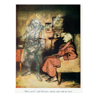 Scrooge and The Ghost of Marley Postcard