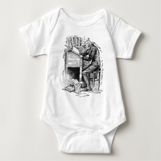 Scrooge at His Desk Baby Bodysuit