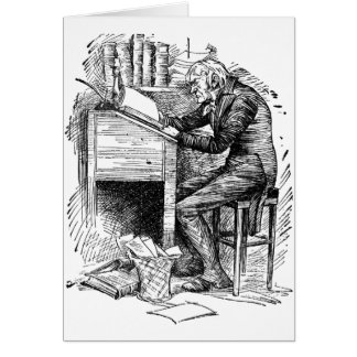 Scrooge at His Desk Cards