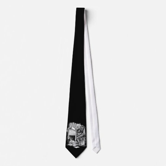 Scrooge at His Desk Neck Tie