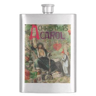 Scrooge Christmas Carol Artwork Print Art Flask