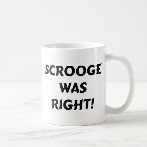 Scrooge correcto tazas de café
