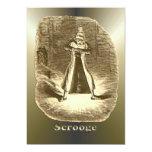 Scrooge del navidad - un villancico del navidad invitación personalizada