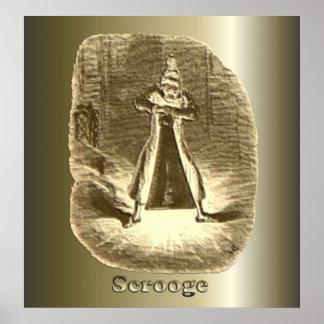Scrooge del navidad - un villancico del navidad poster