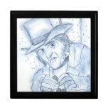 Scrooge en azul caja de recuerdo