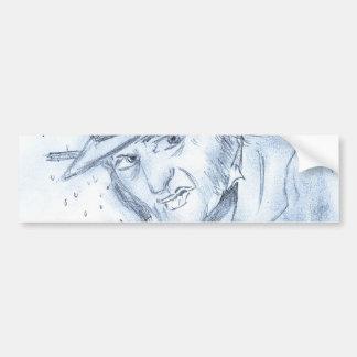 Scrooge en azul pegatina de parachoque