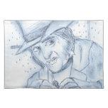 Scrooge en azul mantel individual