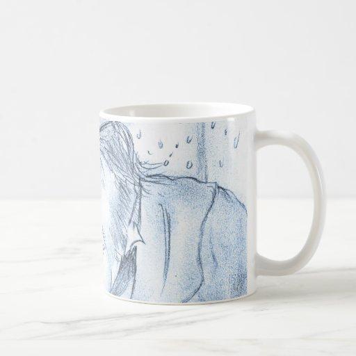 Scrooge en azul taza