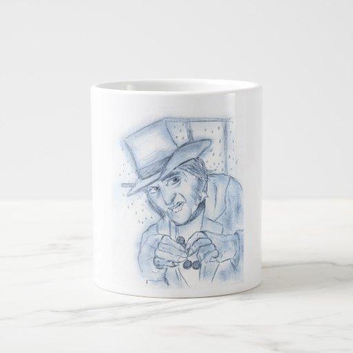 Scrooge en azul taza extra grande