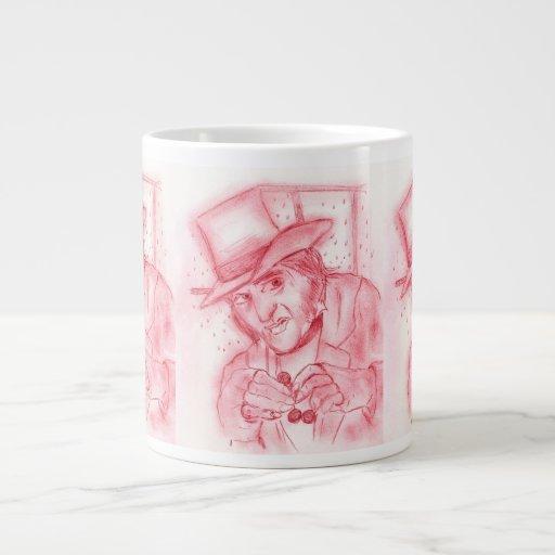 Scrooge en rojo tazas extra grande