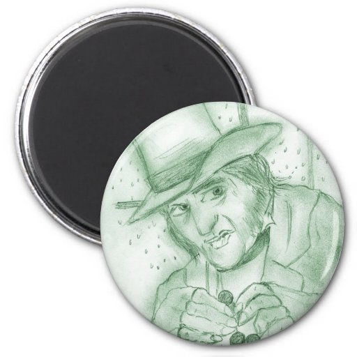 Scrooge en verde imán para frigorifico