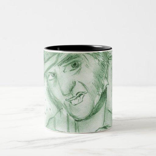 Scrooge en verde taza de café