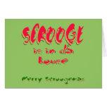 Scrooge está en casa de DA Felicitaciones