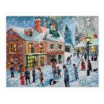 Scrooge fantasmas del navidad del villancico del postales