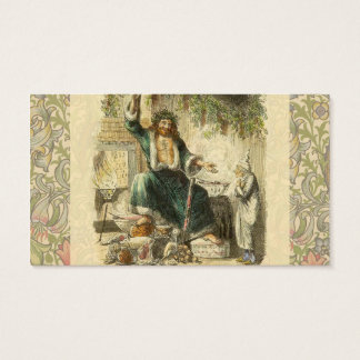 Scrooge Ghost of Christmas Present Victorian Business Card