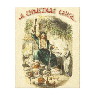 Scrooge Ghost of Christmas Present Victorian Canvas Print