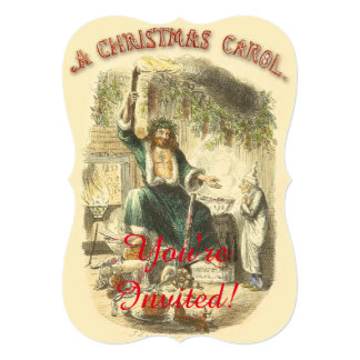 Scrooge Ghost of Christmas Present Victorian Card