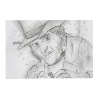 Scrooge in Black and White Placemat