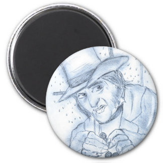 Scrooge in Blue 2 Inch Round Magnet