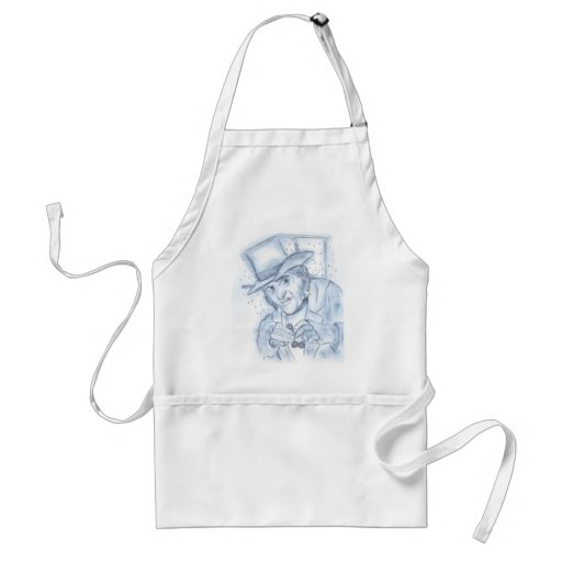 Scrooge in Blue Adult Apron