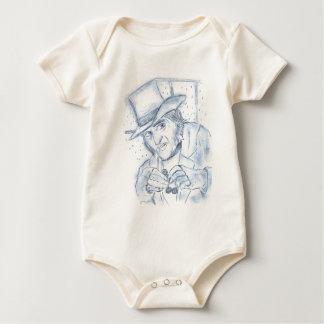 Scrooge in Blue Baby Bodysuit
