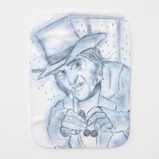 Scrooge in Blue Baby Burp Cloth