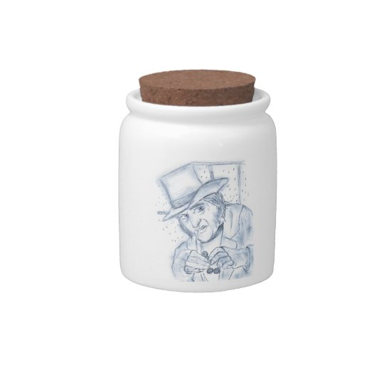 Scrooge in Blue Candy Dish