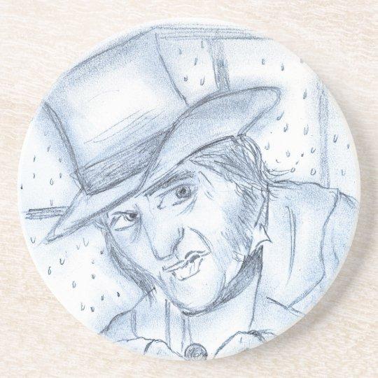 Scrooge in Blue Drink Coaster