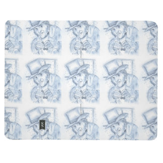 Scrooge in blue journal