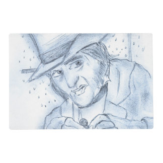 Scrooge in Blue Placemat