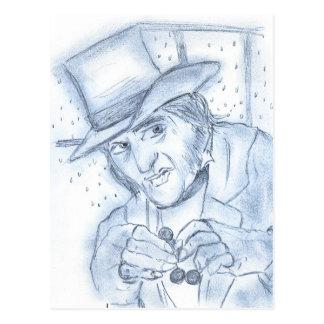 Scrooge in Blue Postcard