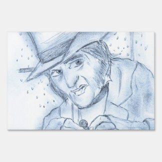 Scrooge in blue sign