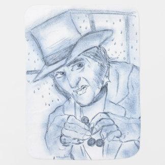 Scrooge in Blue Swaddle Blanket