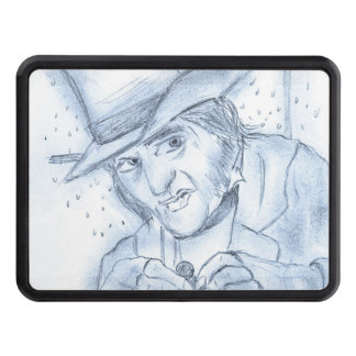 Scrooge in Blue Trailer Hitch Cover