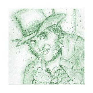 Scrooge in Green Canvas Print