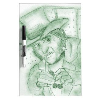 Scrooge in Green Dry-Erase Board