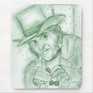 Scrooge in Green Mouse Pad