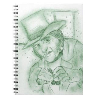 Scrooge in Green Notebook