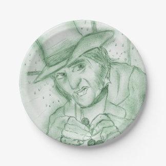 Scrooge In Green Paper Plate