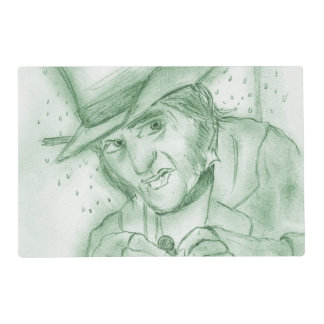 Scrooge in Green Placemat