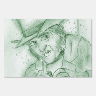 Scrooge in Green Sign