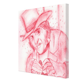 Scrooge in Red Canvas Print