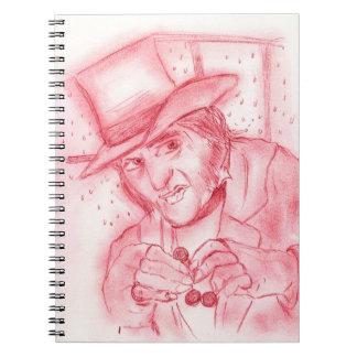 Scrooge in Red Notebook