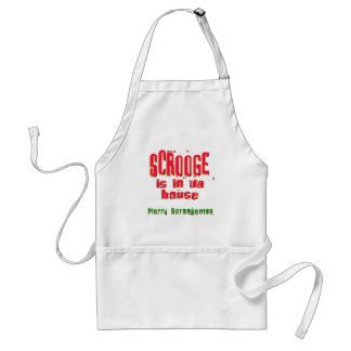 Scrooge is in da house2 adult apron