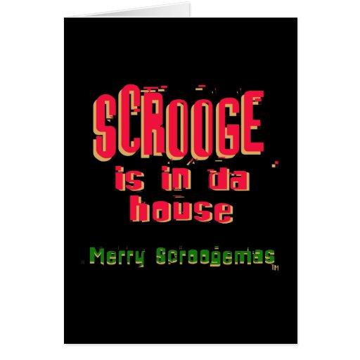 Scrooge is in da house2 greeting card