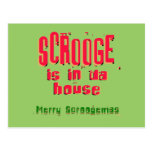 Scrooge is in da house2 postcards